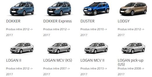 selectie masini